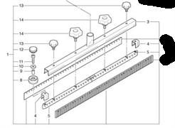 Всасывающая балка прямая в сборе Cleanfix (430.600)