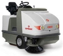 COMAC CS 80 B - аккумуляторная подметальная машина с сиденьем оператора