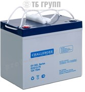 Challenger EVG12-75 - гелевый тяговый аккумулятор, 12 В