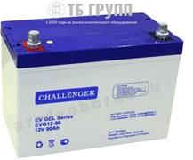 Challenger EVG12-90 - гелевый тяговый аккумулятор, 12 В